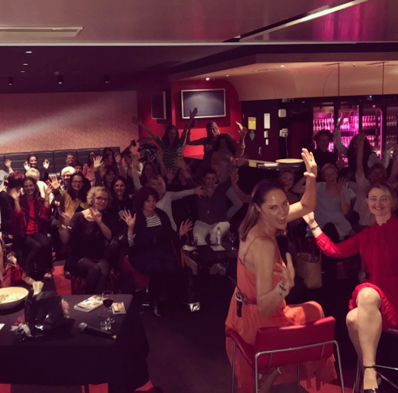 A roomful of creative mamas enjoyed an inspiring evening with Zoe Bingley-Pullin, chef, nutritionist, TV presenter and author of the fabulous cookbook 'Falling in Love with Food'.