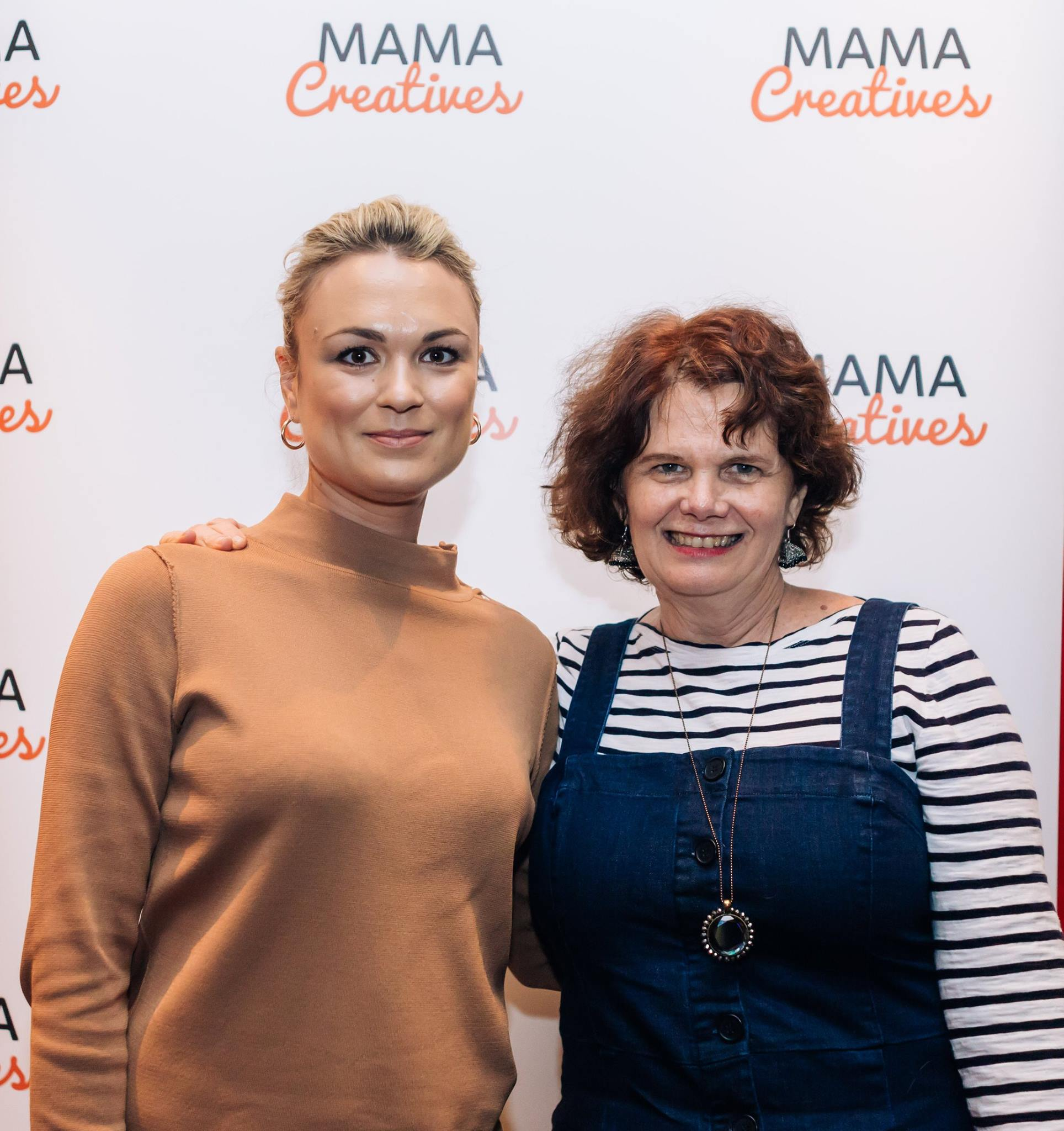 Love these two fabulous mamas at our inspiring Mama Creatives Mother's Day Celebration.
