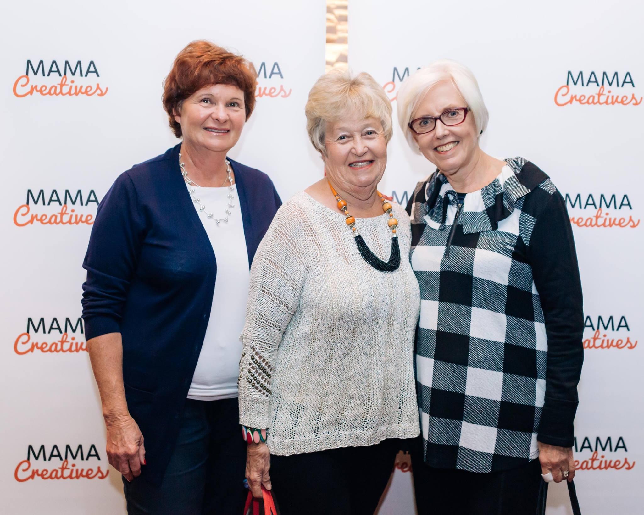 Three fabulous mamas who enjoyed our inspiring Mama Creatives Mother's Day Celebration.