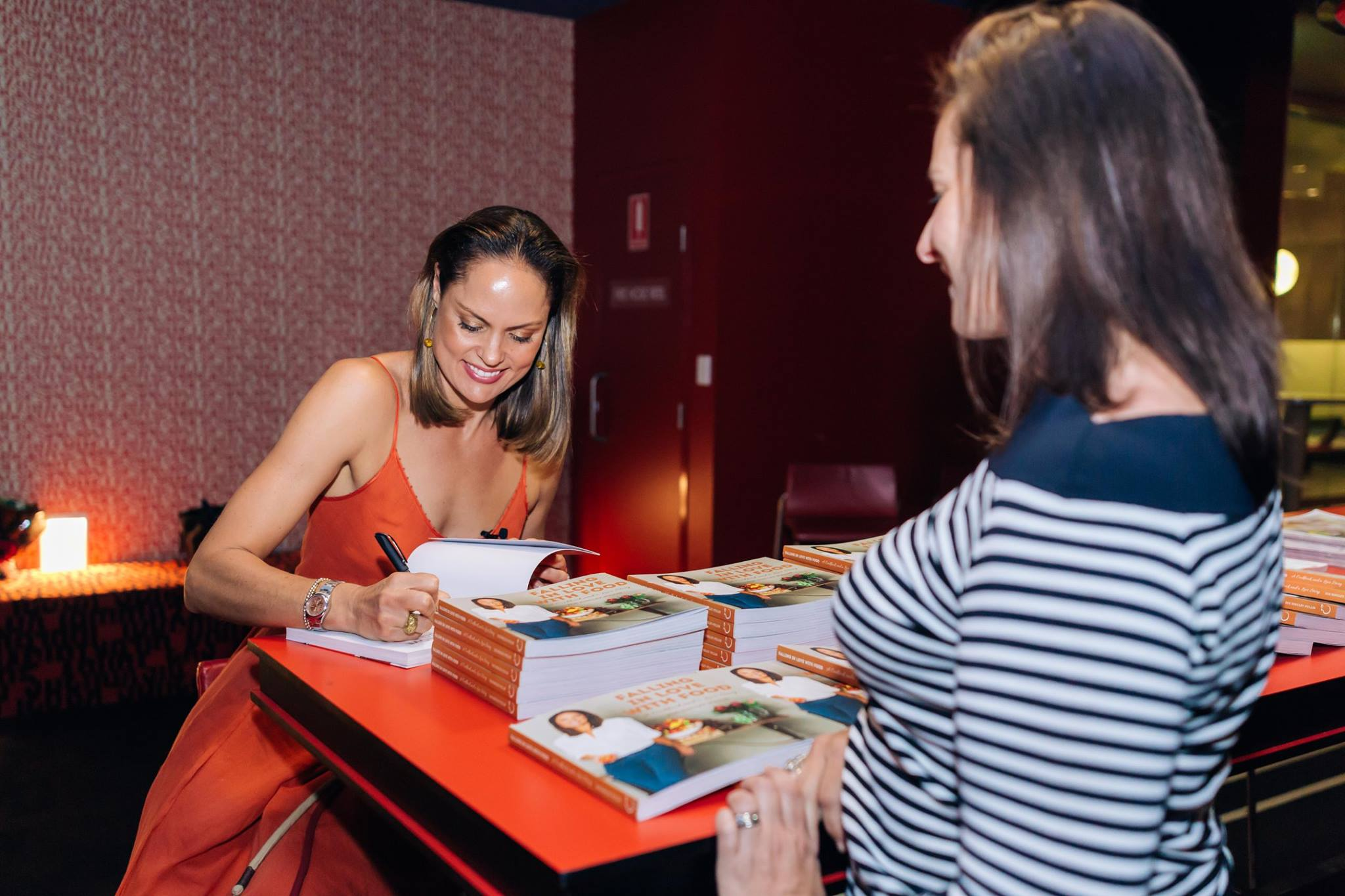 Zoe Bingley-Pullin generously signs copies of her latest cookbook, 'Falling in Love with Food'.  Zoe has now created an online program of the same name, super easy and fun, check it out: http://www.fallinginlovewithfood.com/