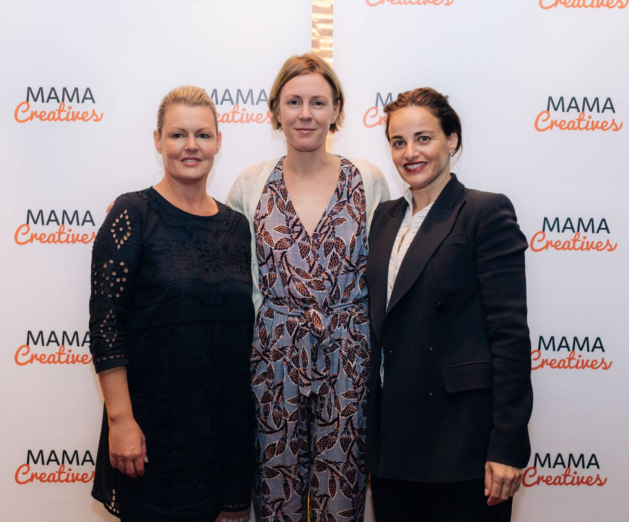 Trio of fabulously talented creative mamas, on the red carpet at our inspiring Mama Creatives Mother's Day Celebration.