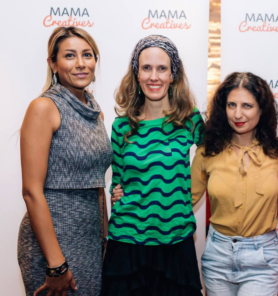 Trio of talent at our inspiring Mama Creatives Mother's Day Celebration with Zoe Bingley-Pullin, chef, nutritionist, TV presenter and author of the fabulous cookbook 'Falling in Love with Food'.