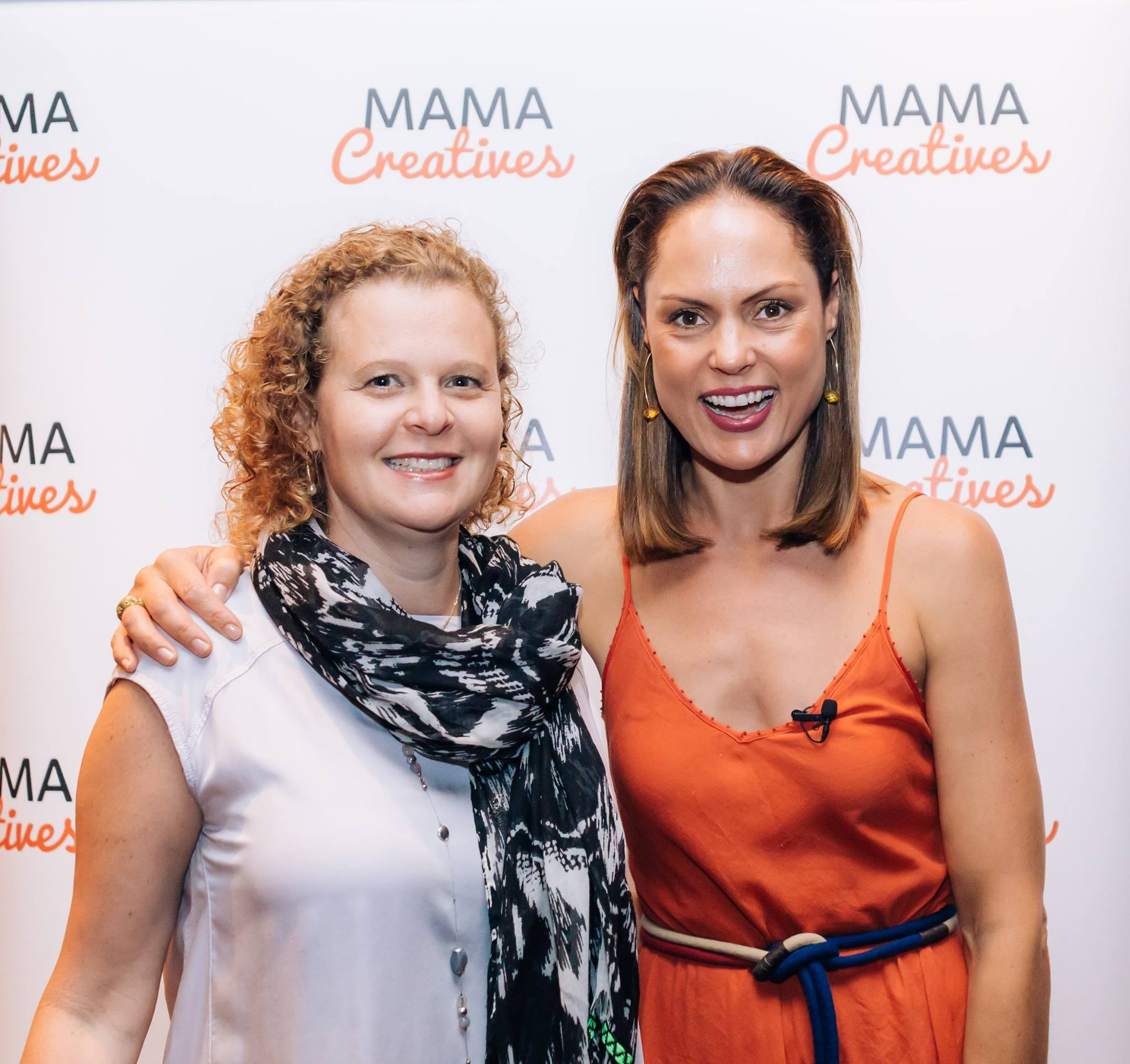 Lindi Glass, from Pure Good Bars, one of our generous event partners, hanging out on the red carpet with our inspiring Mother's Day guest mama, Zoe Bingley-Pullin.