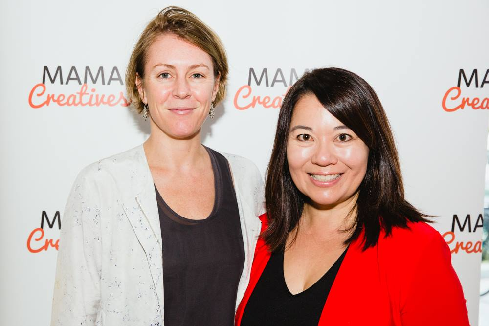 Emily Joyce with our fabulous expert facilitator Valerie Khoo, CEO of the Australian Writers' Centre at our Mama Creatives second Masterclass, '7 Steps to Build Your Profile and Grow Your Creative Business'.