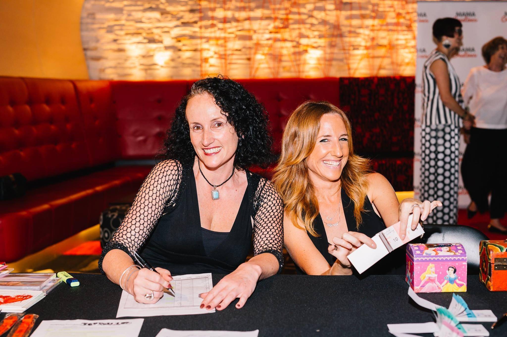 Massive thank you to these two amazing friends who helped check in all the attendees and sell raffle tickets to raise much needed awareness and funds for the wonderful Mitrataa Foundation. We raised $400 — with Sarah Gardan and Fern Madden.