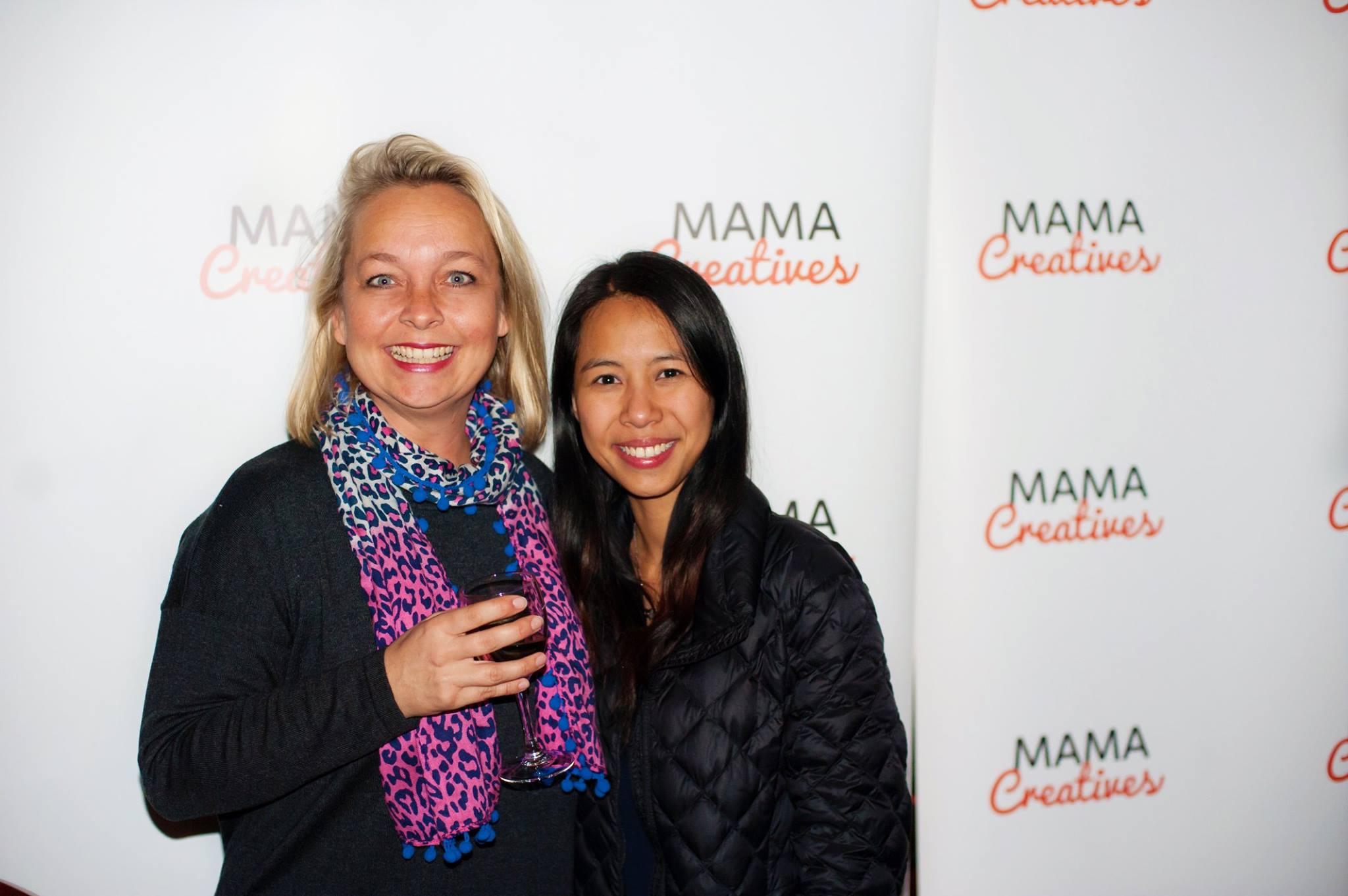 Two creative women, Emma Veiga-Malta, founder of Bespoke Backdrops with photographer Mariam.