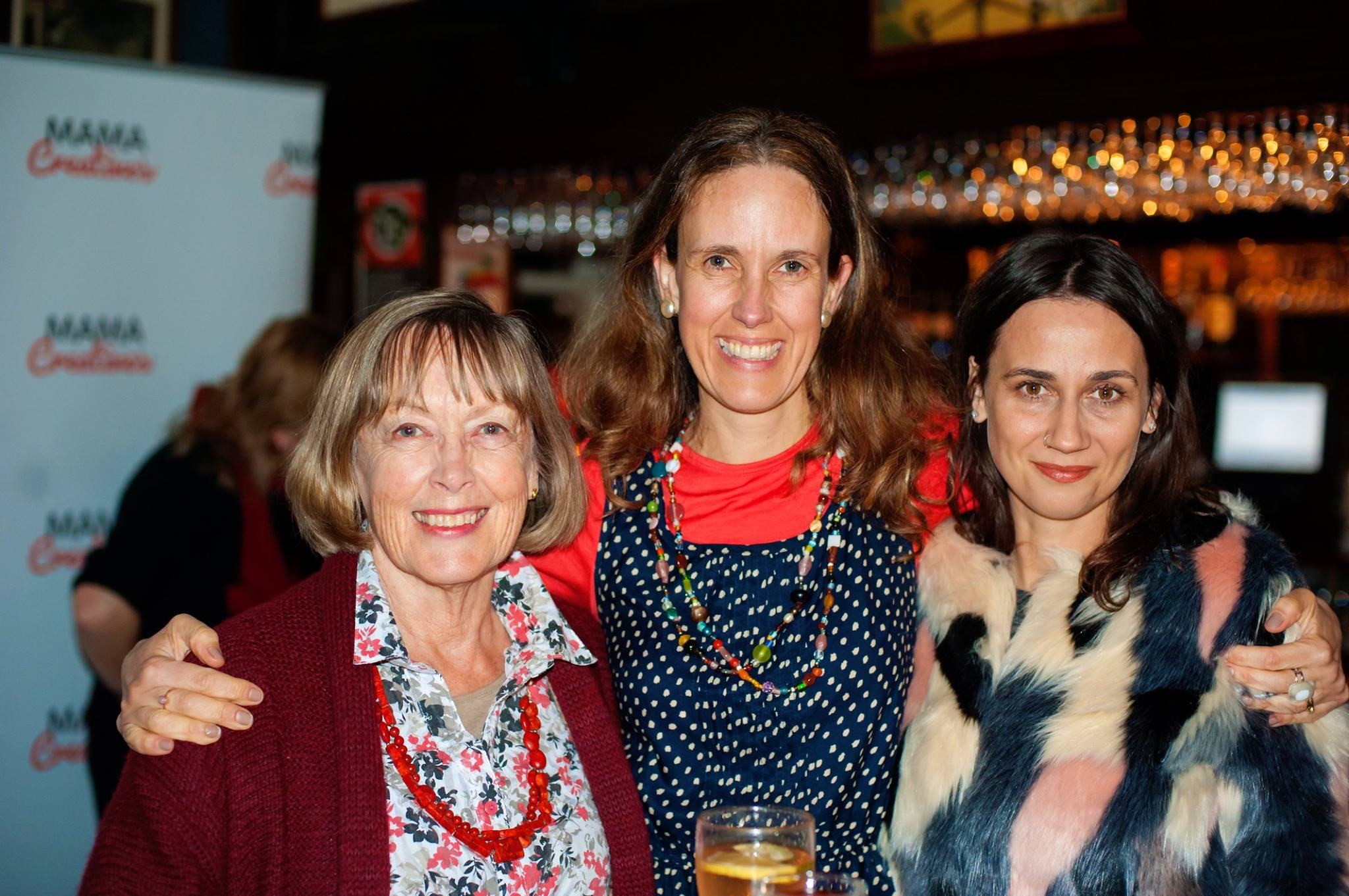A trio of creative mamas, artist Yaeli Ohana with her mother Judith (left), and filmmaker Dominika Ferenz (right), at our Mama Creatives evening talk .