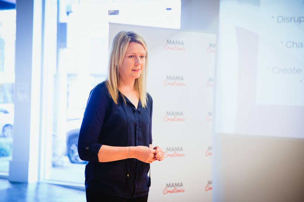 In action, our wonderful masterclass presenter, Angela Priestley, journalist, editor & publisher, Women's Agenda at our Mama Creatives Masterclass, 'How to win at PR, pitching & the media on your terms'.