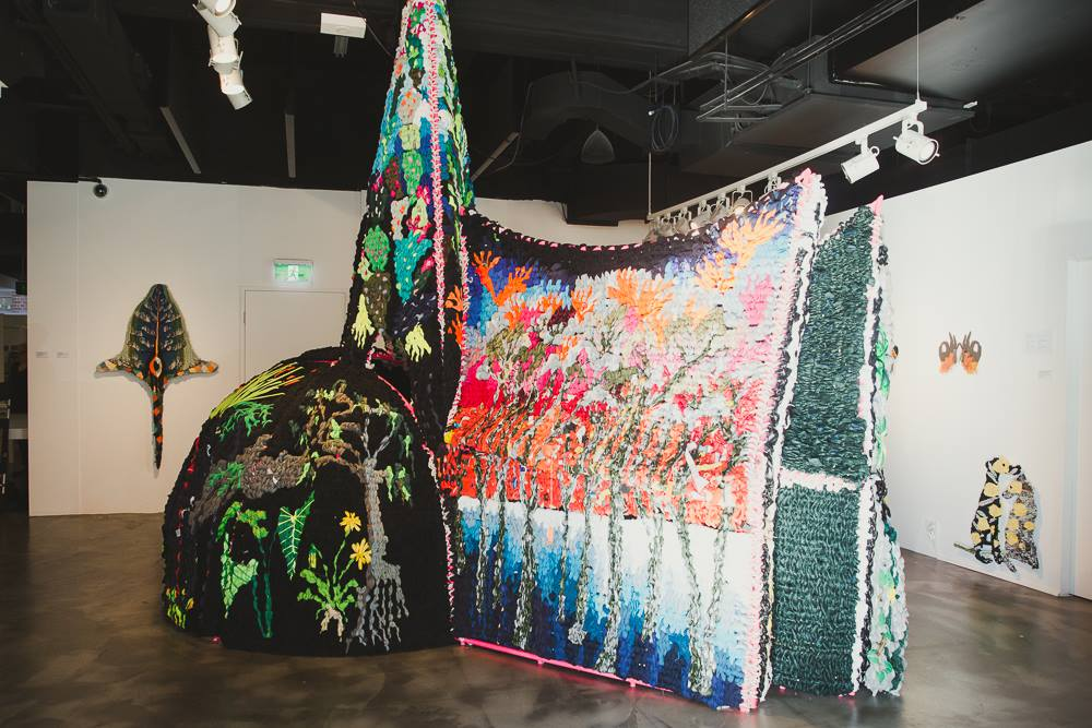 'Green Asylum' by artist Charlotte Haywood, one of two exhibitions at the Australian Design Centre where we host our Mama Creatives Morning Tea Masterclasses.