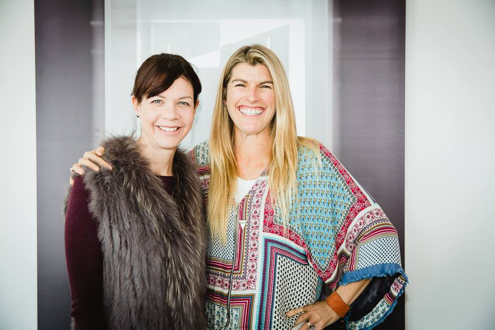 Two very talented mamas, Amber Daines Ungar and Lizzy Williamson, also previous Mama Creatives Masterclass presenters, at our Masterclass, 'How to win at PR, pitching & the media on your terms' featuring the fabulous Angela Priestley, journalist, editor & publisher Women's Agenda.