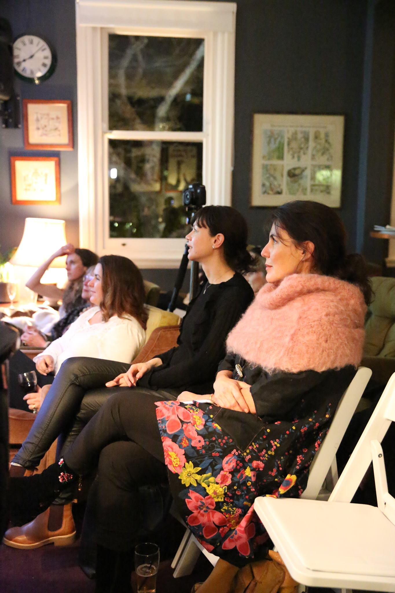 Captivated by our fabulous featured evening presenter, Emma Veiga-Malta.