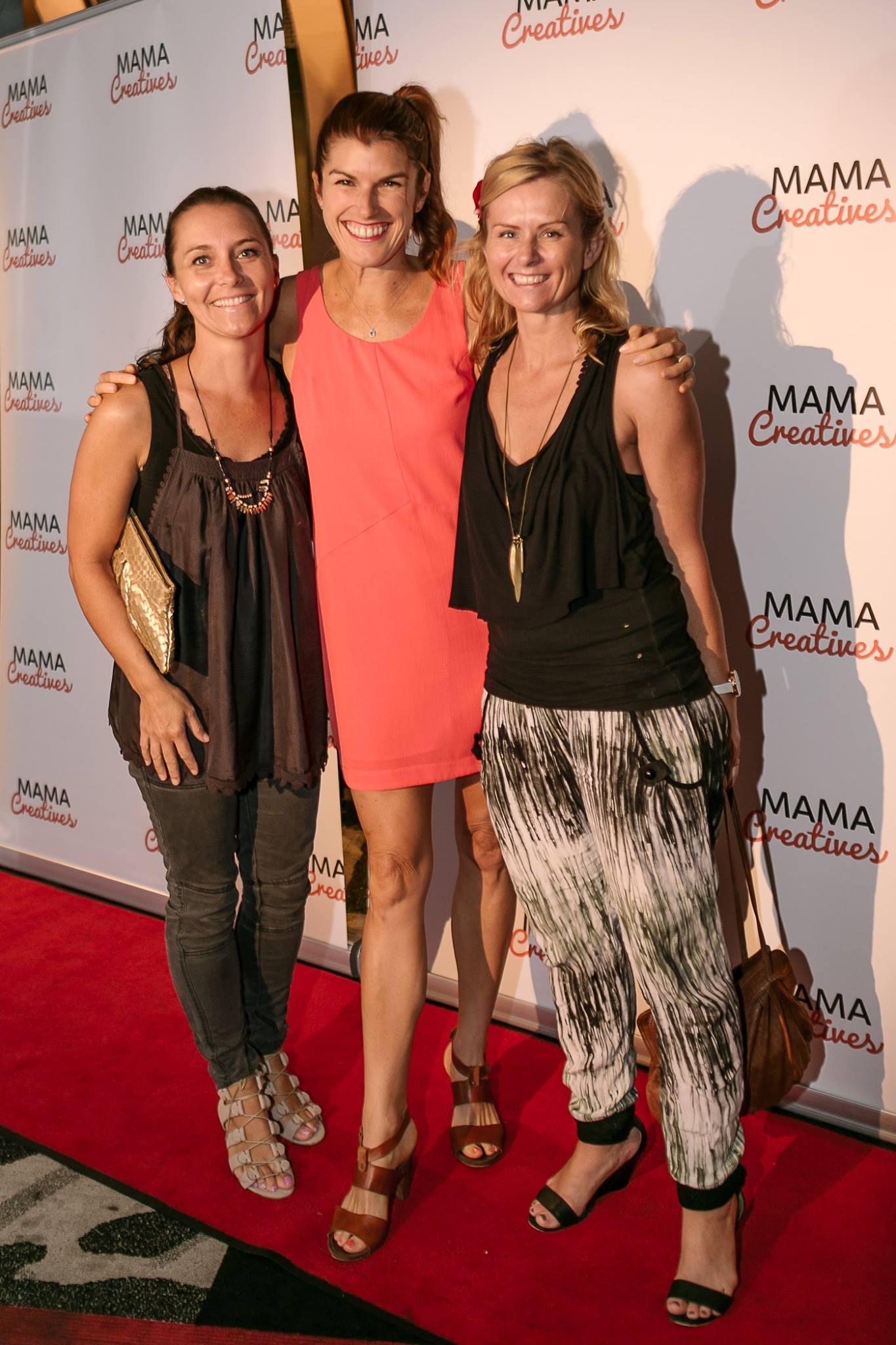 Three talented women, Lizzy Williamson with artist Susie Dureau