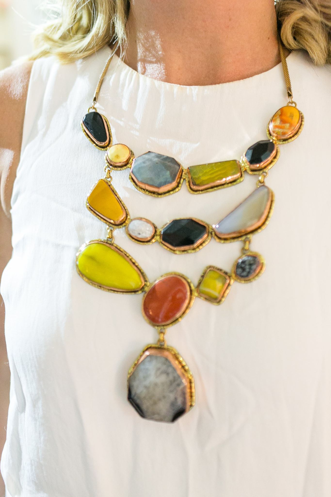 Close up on this remarkable piece of jewellery, worn by jewellery designer and founder of uberkate Kate Sutton
