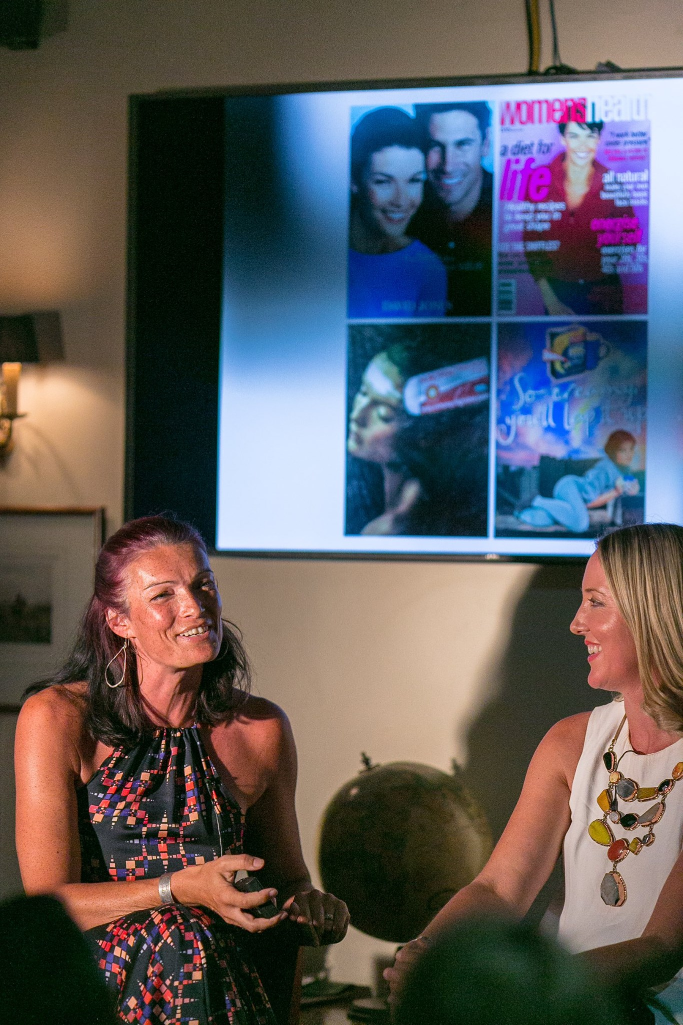 In conversation, the delightful Tessa White and Kate Sutton, featured mamas at our February creative mama evening talk