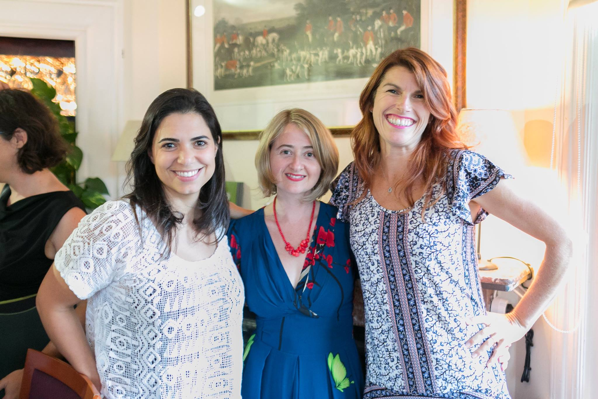 With Uldouz Van Eenoo and Lizzy Williamson