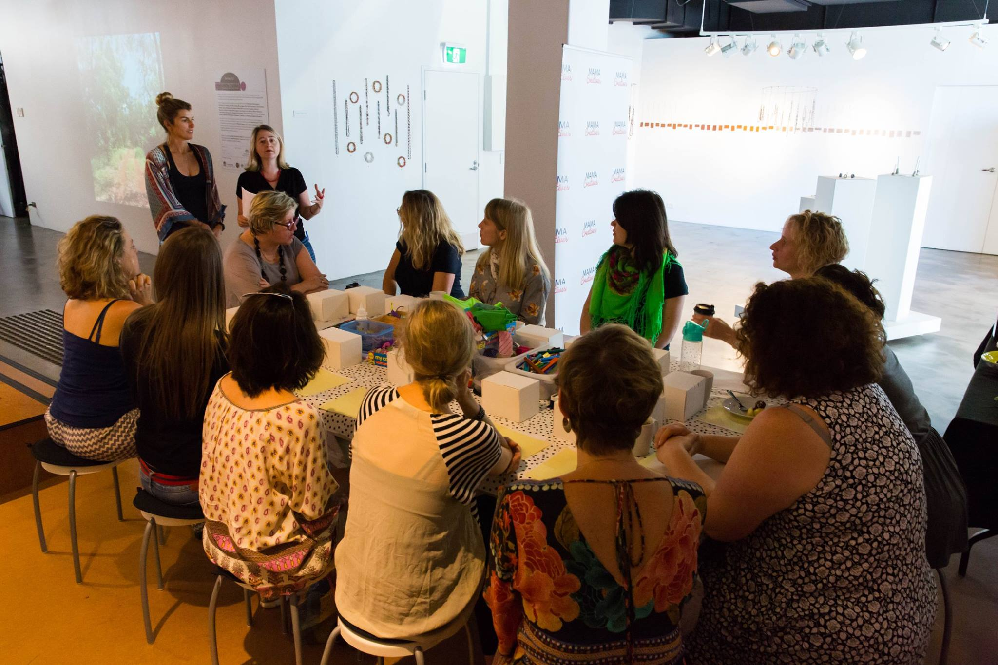 Creative Mama Workshop, facilitated by Lizzy Williamson, dancer & founder Two Minute Moves together with Anna Kellerman, art therapist at Sydney Anxiety Clinic & founder Mama Creatives.