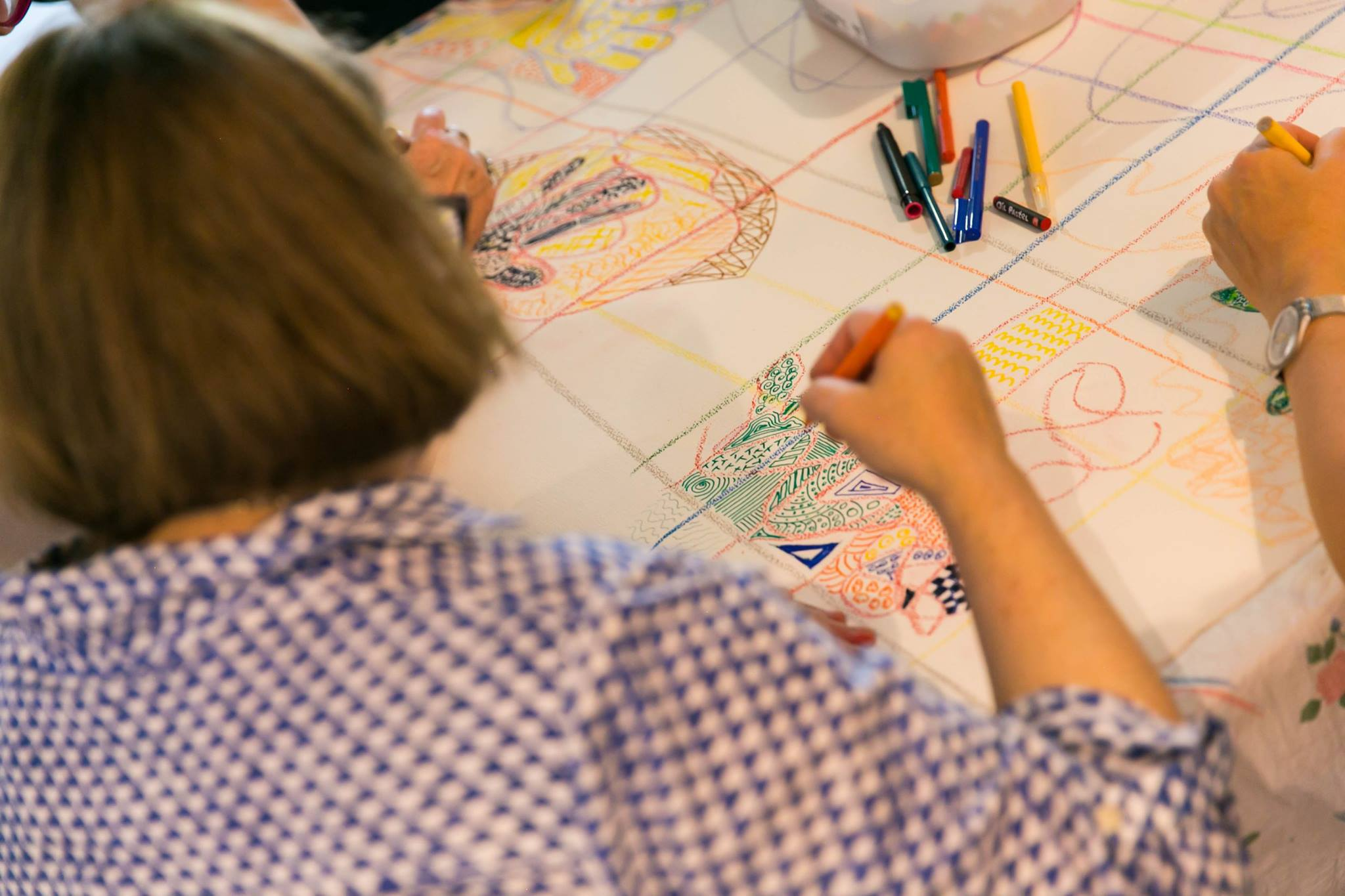 Focused art making activity, at our Creative Mama Workshop, in support of PANDA Awareness Week.