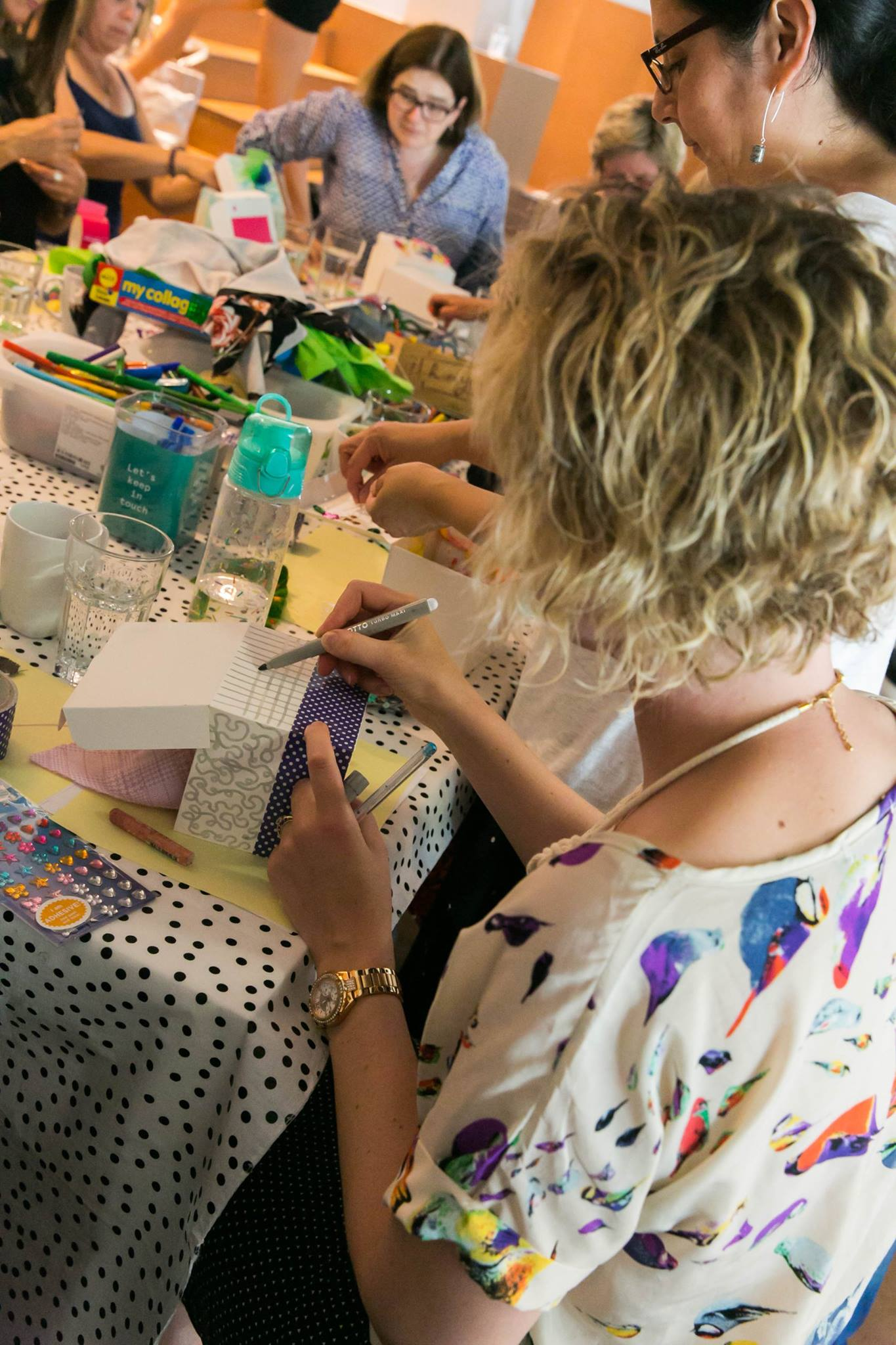 Art activity, at our Creative Mama Workshop in support of PANDA Awareness Week.