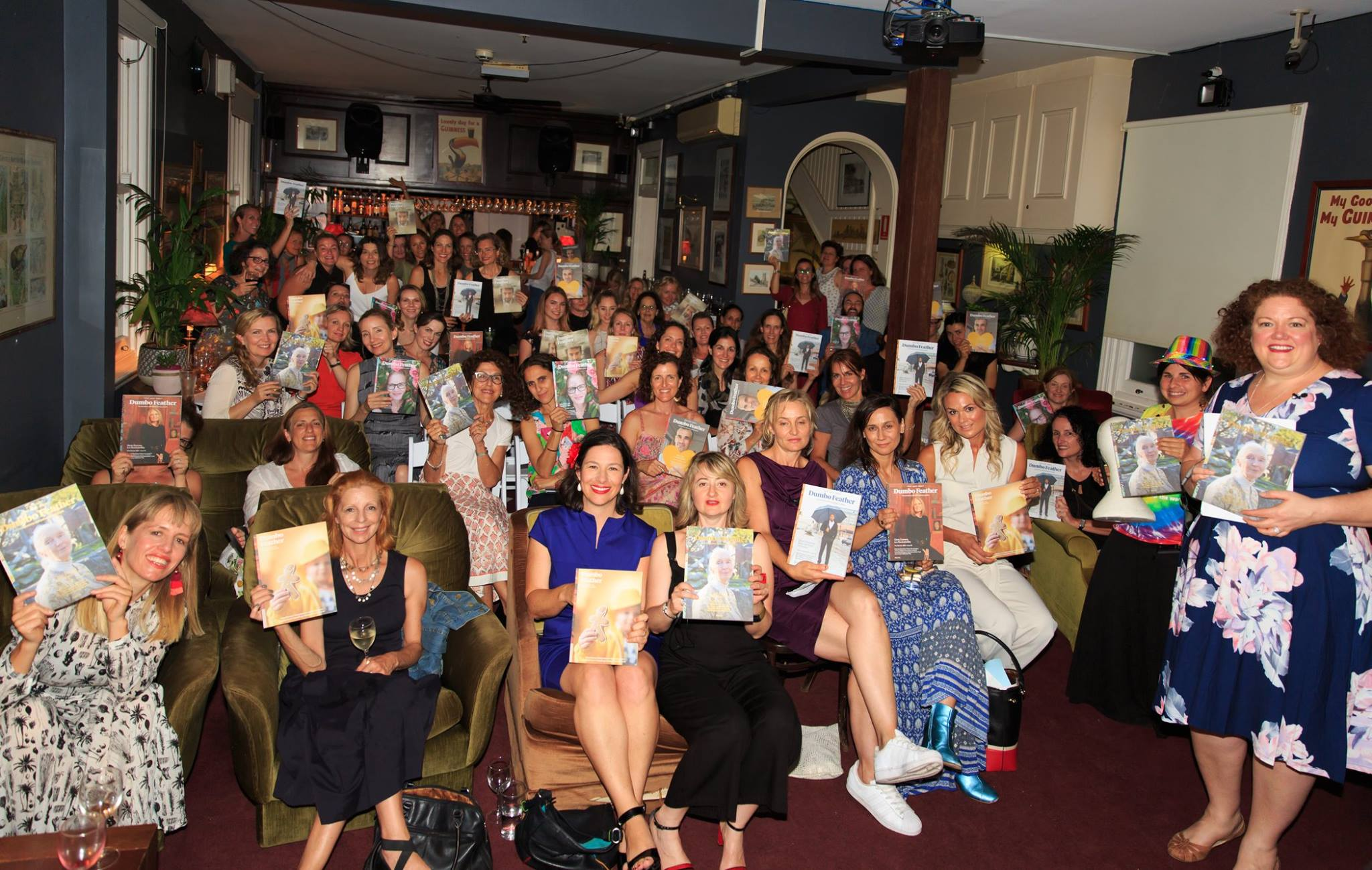 A packed room of creative women and 2 honourary mamas (dudes) at our Mama Creatives Story Slam, where 6 mamas from our community shared personal stories about the theme of Courage, hosted by the fabulous Bron Maxabella, writer, editor, founder of Maxabella Loves and Mumlyfe.