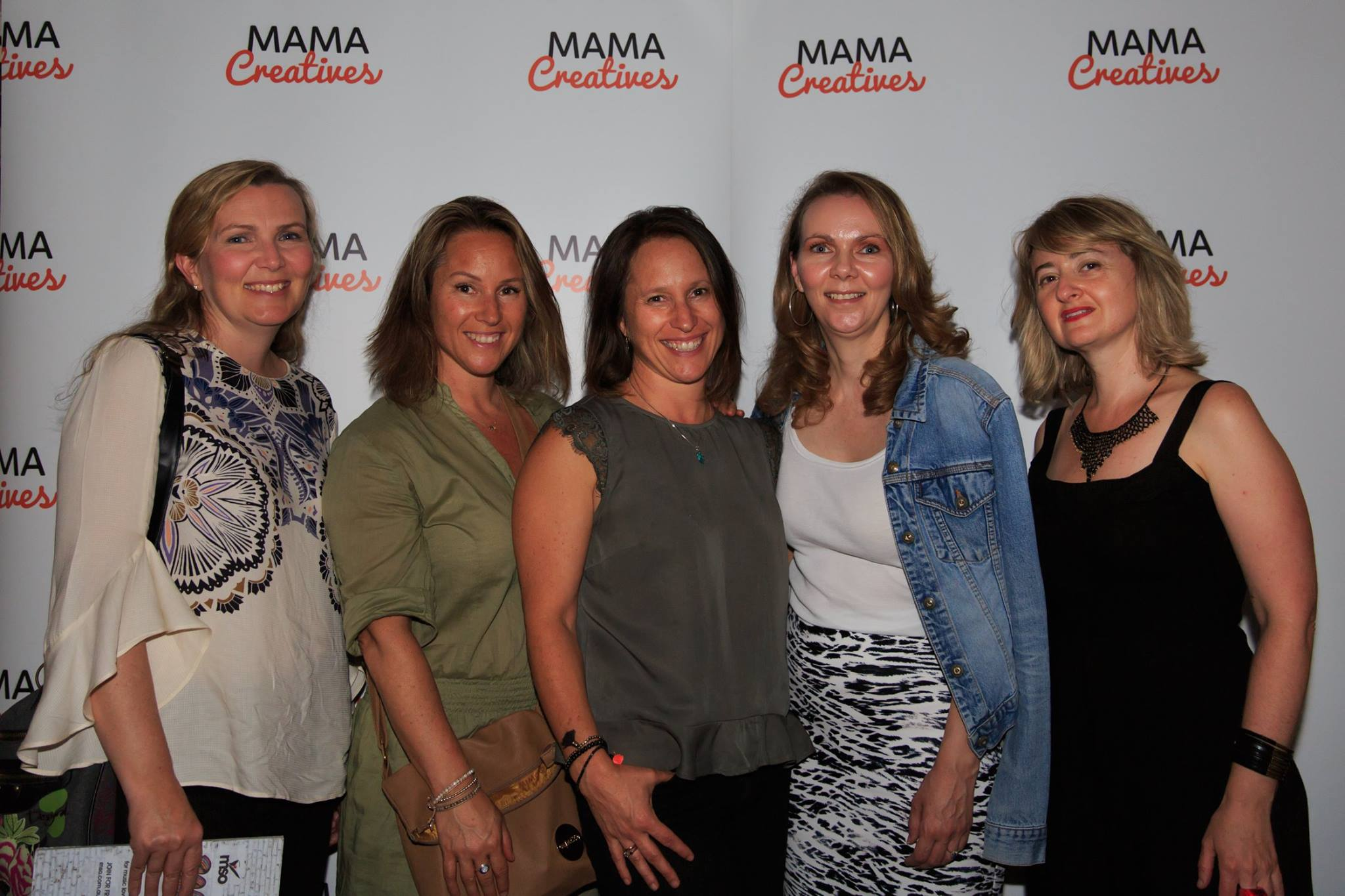 With beautiful creative friends from high school! At the Mama Creatives Story Slam finale event for 2017.