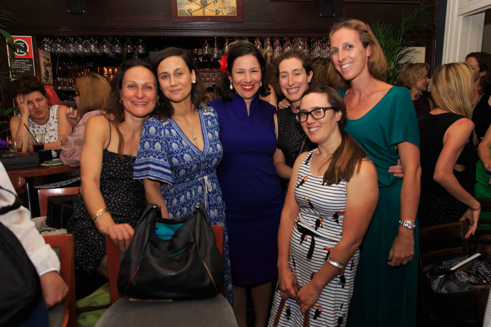 Courageous speaker, Bianca Havas with friends, at the Mama Creatives Story Slam.
