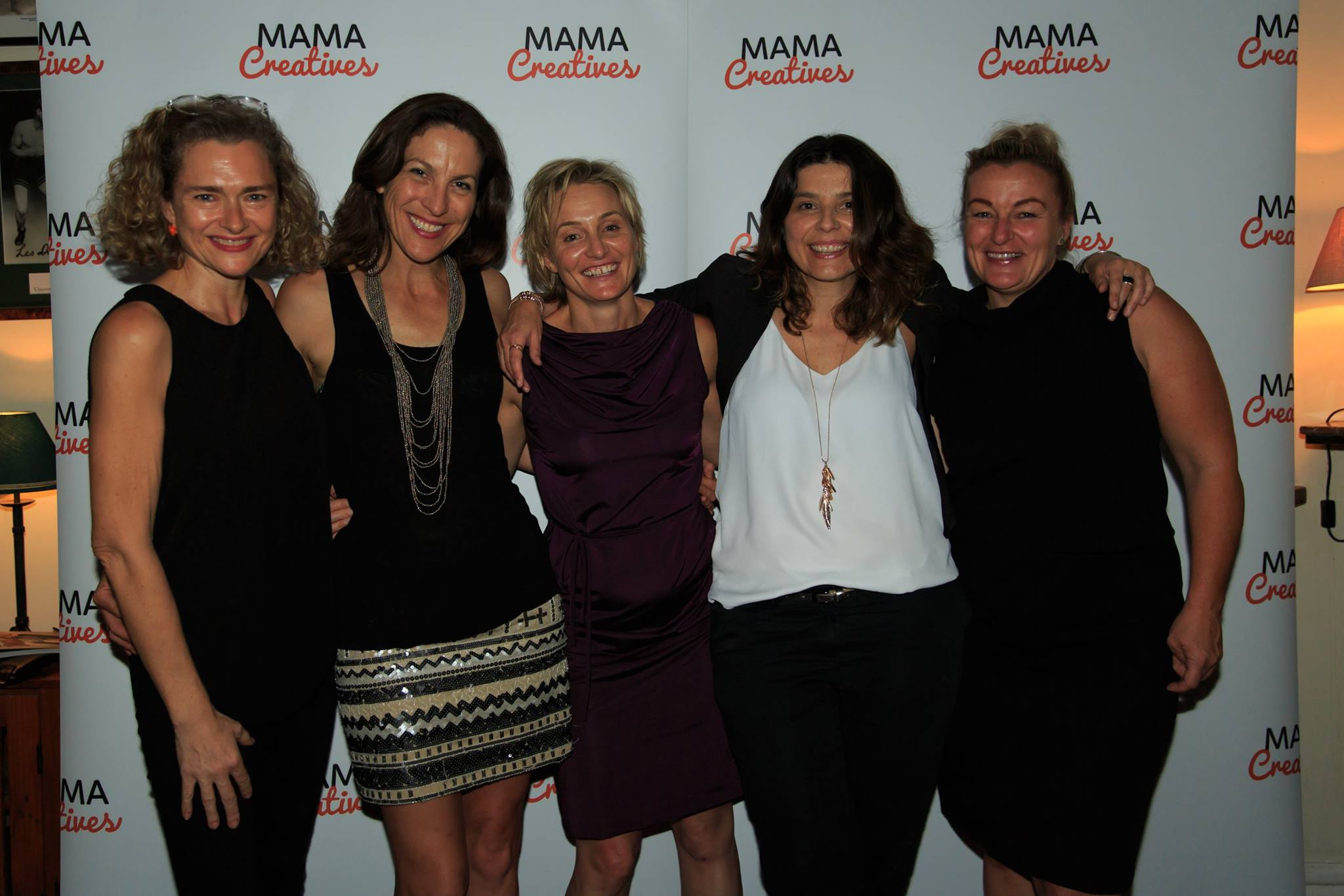 Courageous speaker, Georgina Russell Badelt & friends, at our Mama Creatives Story Slam.