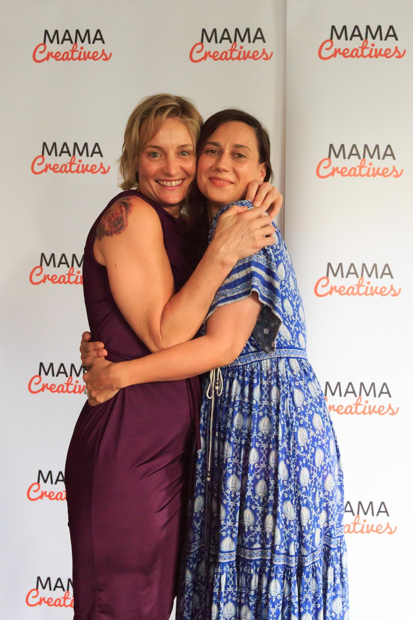 Courageous speaker, Georgina Russell Badelt, who shared her heartfelt and courageous story, at our Mama Creatives Story Slam.