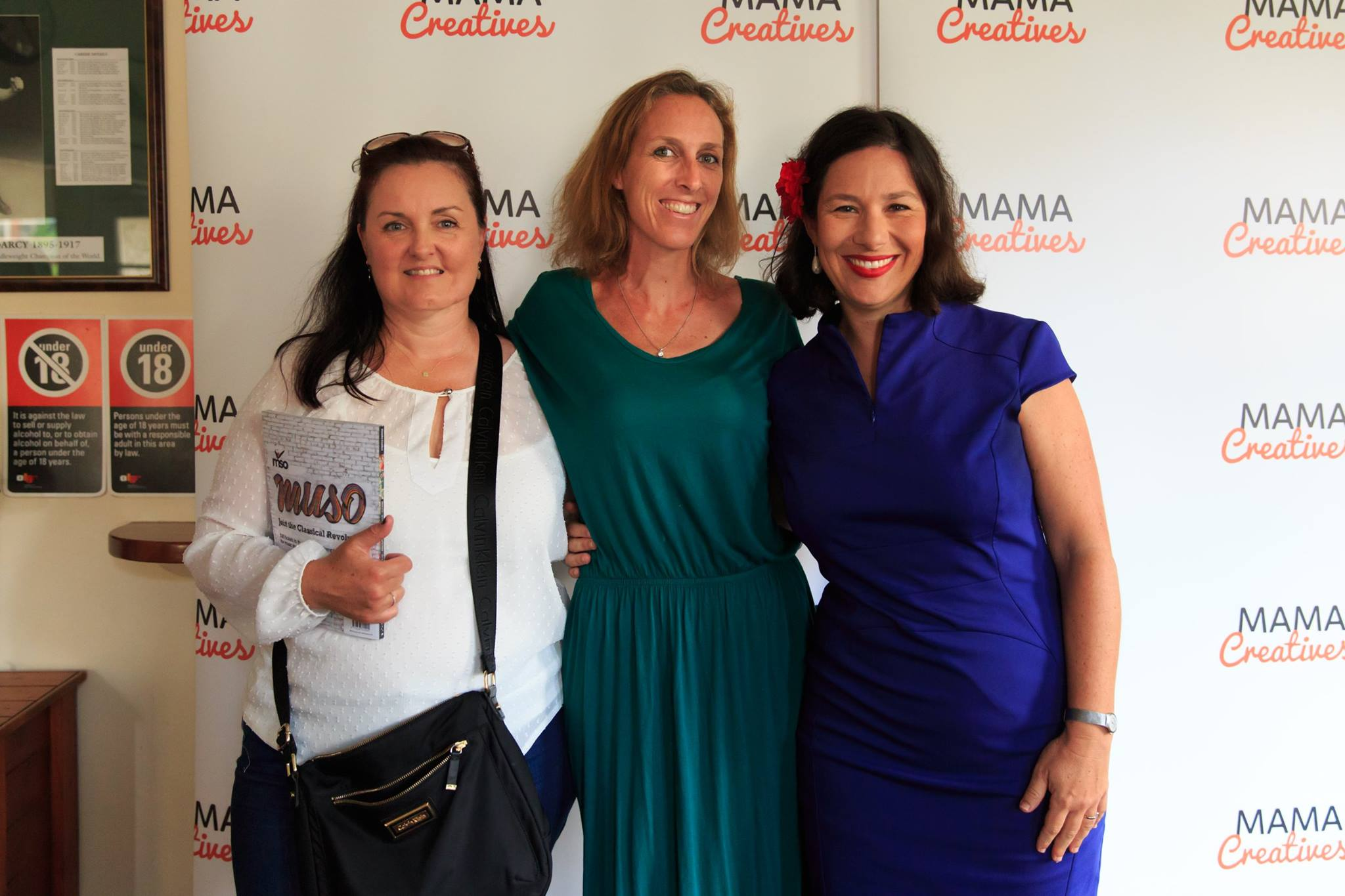 Courageous speaker Bianca Havas, with friends, who shared her amazingly courageous story, at our Mama Creatives Story Slam.